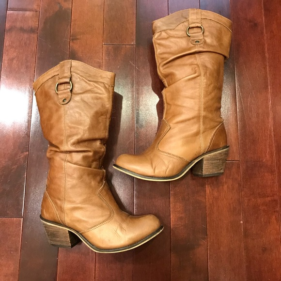 fa037e01adf Steve Madden Gammbble Western Brown Leather Boots.  M 5a87248ed39ca27f0847ccb5